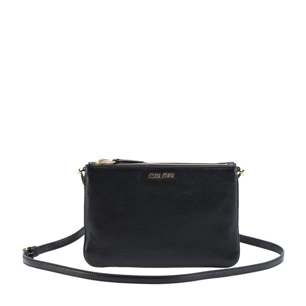 Miu Miu zip bag crossbody bag black