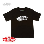 Vans Off The Wall T-Shirt - Black/White | Free UK Delivery