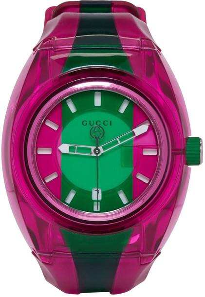 gucci watch pink green jewels