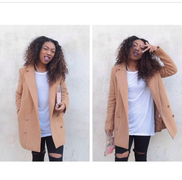 Nude Pea Coat - Shop for Nude Pea Coat on Wheretoget