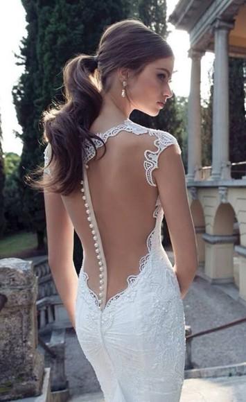 lace dress white dress see through dress dress