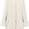 Romwe | romwe faux fur cuffs white woolen coat, the latest street fashion