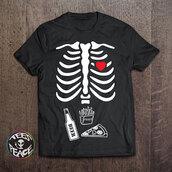 t-shirt,halloween,halloween costume,halloween accessory,halloween decor,etsy,tumblr,tumblr outfit,tumblr clothes,tumblr shirt,spooky,skeleton,ribcage,rib cage,tees2peace,bones,bones sweater,need a drink,mixed drinks,stomach,eat sleep wear,fashion vibe,funny,funny t-shirt,funny shirt,geek