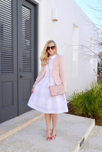 dress jacket bag shoes sunglasses fash boulevard blogger