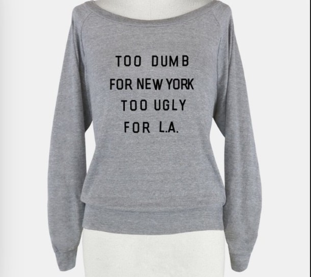t-shirt jumper grey sweater sweater new york city los angeles hipster sweater