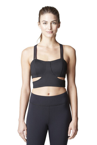 jacket black cut-out mesh sports bra supportive bikiniluxe