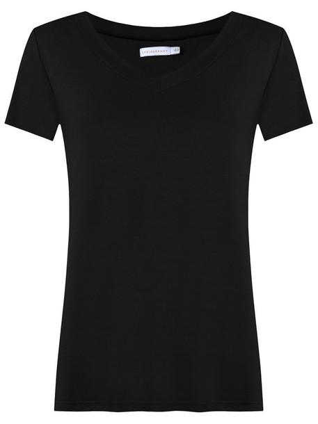 t-shirt shirt t-shirt women spandex cotton black top