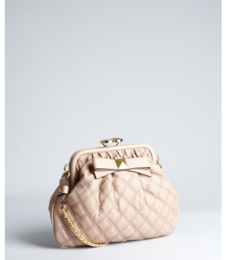 5f073c3d6020 Marc Jacobs Taupe Quilted Leather Little Stam Stud Bow Shoulder Bag in  Beige (taupe)