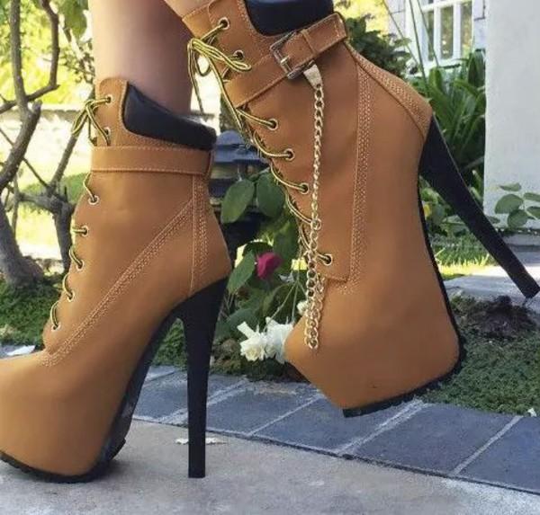 shoes high heels brown boots high heels boots platform boots