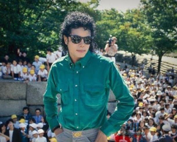 shirt michael jackson japan 1980 green corduroy button up