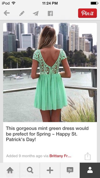 dress lace dress fashion neon dress green mint green green dress mint green dress spring style neon bright