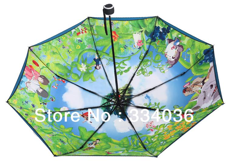 Free shipping!navy blue anti uv ghibli umbrella double sunshade two person umbrella totoro parasol umbrella u 002