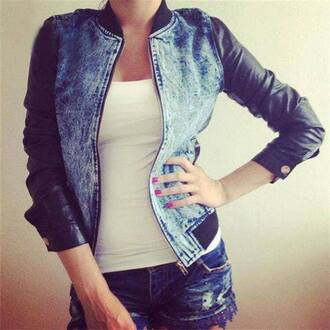 jacket leather leather jacket blue black denim jacket denim leather fashion sporty sporty jacket pants denim hot pants denim hotpants jeans jeans hotpants lace details lace details blue jeans