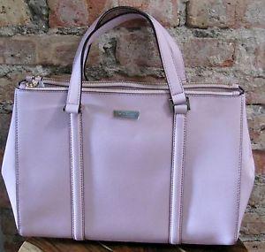 Nwt kate spade saffiano leather newberry lane loden pink cipria handbag wkru2461