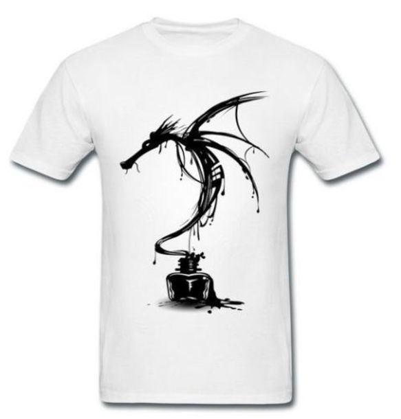 96267c52 t-shirt, ink, black and white, smaug, desolation, movie, indie ...