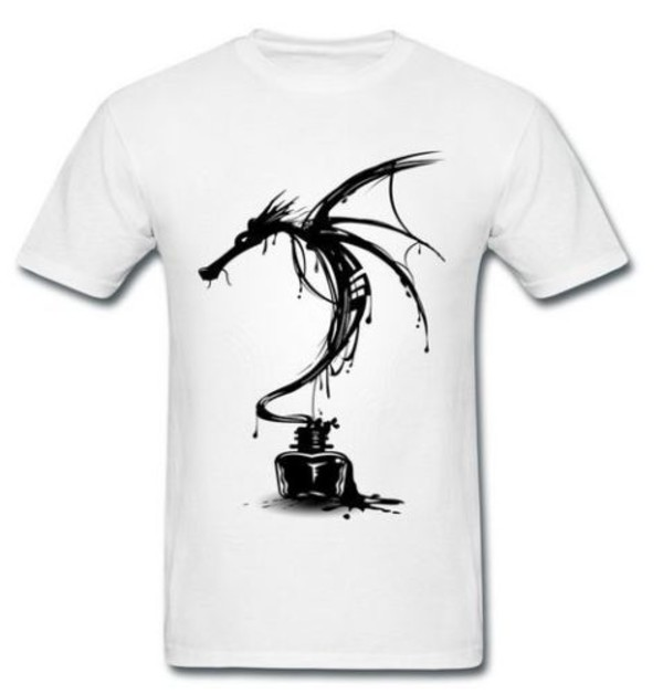 T-shirt, Ink, Black And White, Smaug, Desolation, Movie