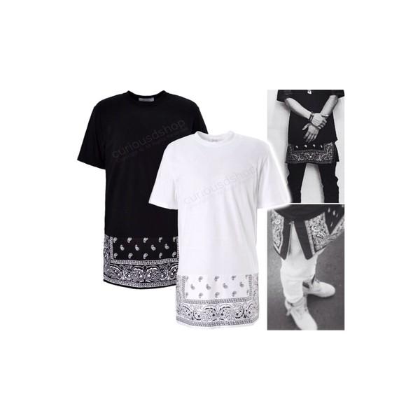 t-shirt bandana print