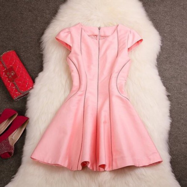 dress pink dress style details summer dress pink leather