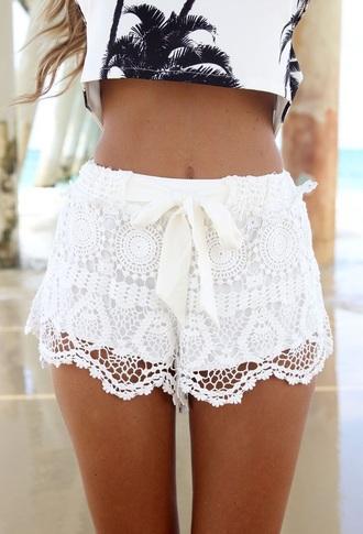shorts lace shorts lace bottom lace bottoms lacey lacey shorts white lace shorts white bottom white bottoms white bottom lace