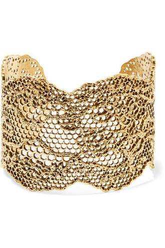 cuff lace gold jewels