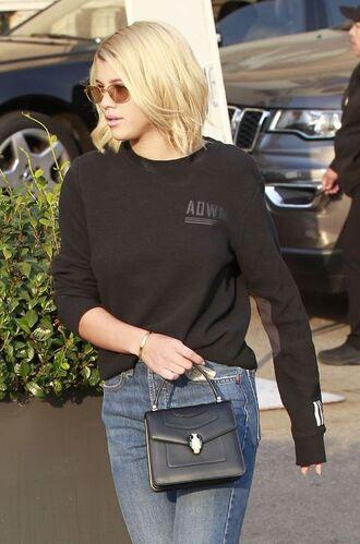 sweater sweatshirt jeans sofia richie streetstyle fall outfits