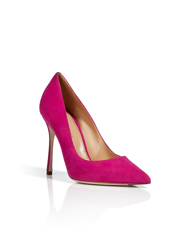 Suede Pointed Toe Pumps in Cyclamen from SERGIO ROSSI | Luxury fashion online | STYLEBOP.com