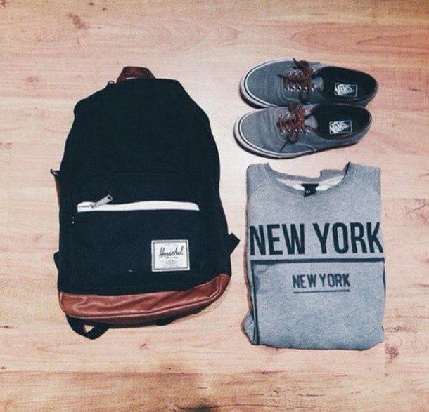 bag shoes sweater