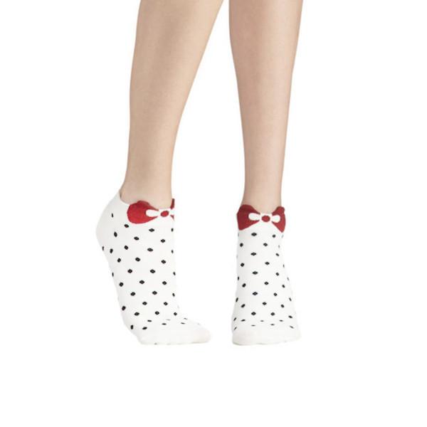 Bow polka dots socks