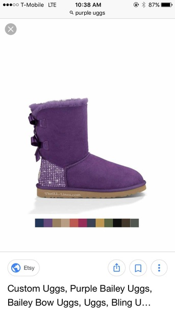 shoes glitter ugg boots purple