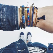 jewels,bracelets,zorabyl,denim