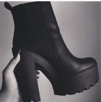 boots chunky boots black boots black heels high heels shoes platform shoes platform boots chunky heels cleated sole heels chelsea boots