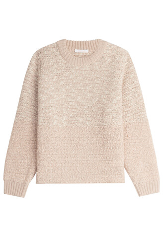 pullover metallic wool beige sweater