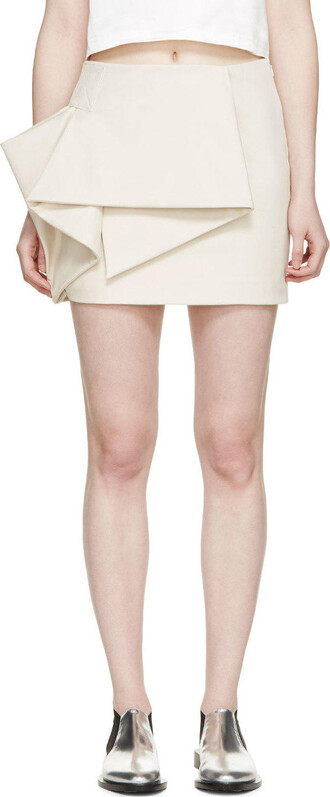 skirt mini skirt mini origami beige