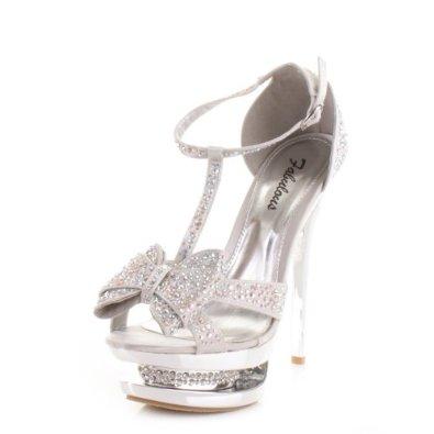 Silver Heels With Bow - Qu Heel