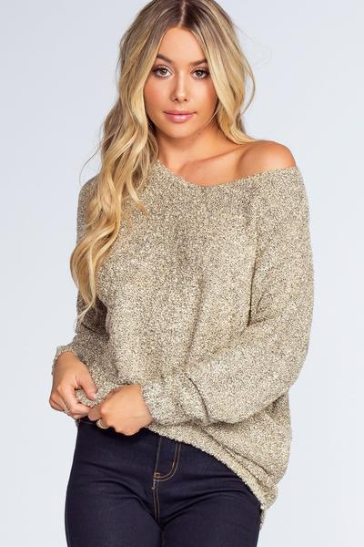 Wonder Girl Sweater - Taupe