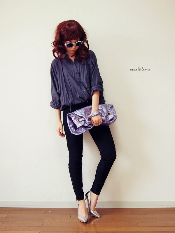 xoxo hilamee shirt pants shoes sunglasses bag jewels