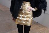 skirt,gold,short