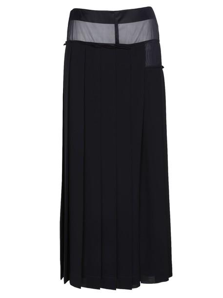 skirt midi skirt pleated midi blue