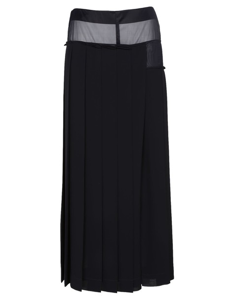 Victoria Beckham skirt midi skirt pleated midi blue