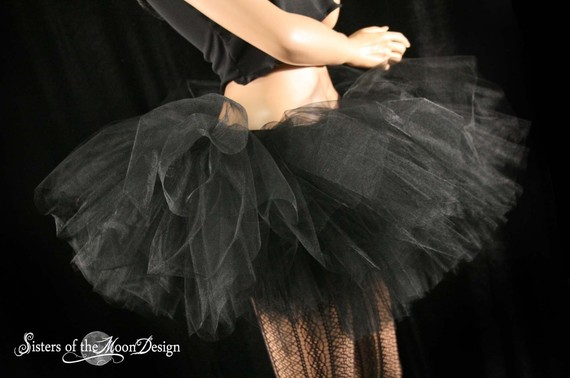 Ultimate Midnight black tutu skirt extra extra by SistersOfTheMoon