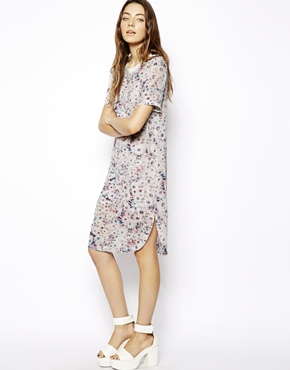 ASOS | ASOS Shift Dress In Pastel Floral Print at ASOS