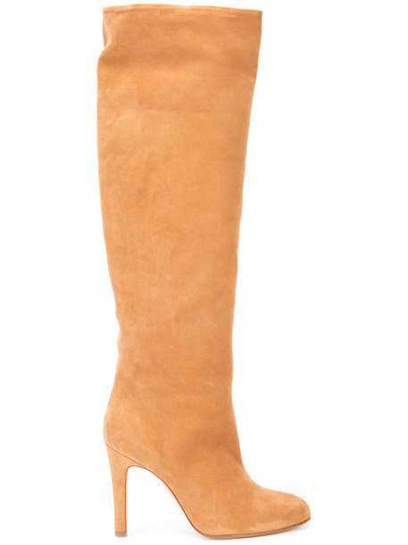ALEXA WAGNER high women leather nude suede shoes