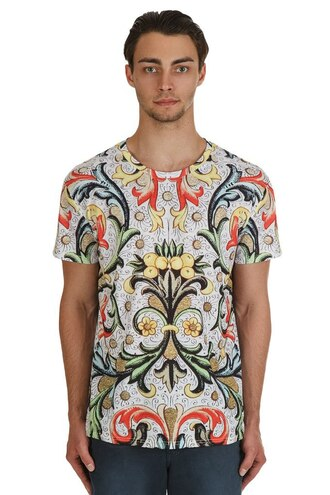 t-shirt floral fusion menswear hipster menswear urban menswear printed t-shirt colorful