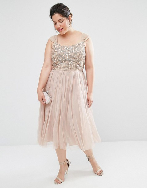 98a2aeefbd9 dress blush pink embroidered dress plus size dress cocktail dress nude dress  plus size bridesmaid bridesmaid