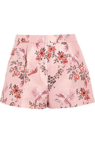 shorts jacquard floral blush