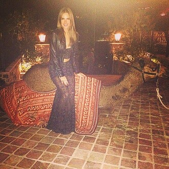 top skirt bustier lace maxi skirt alessandra ambrosio