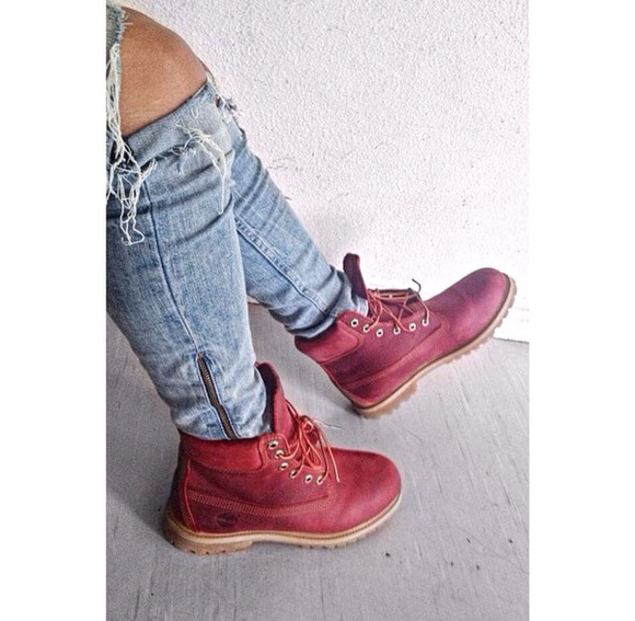 shoes red timberlands red shoes timberland boots shoes timberlands red and white