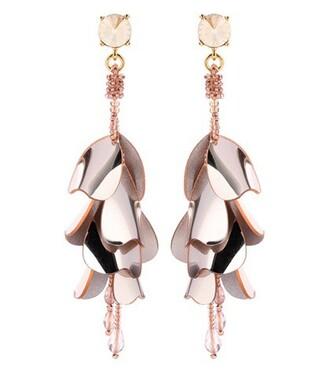 beaded earrings silver jewels