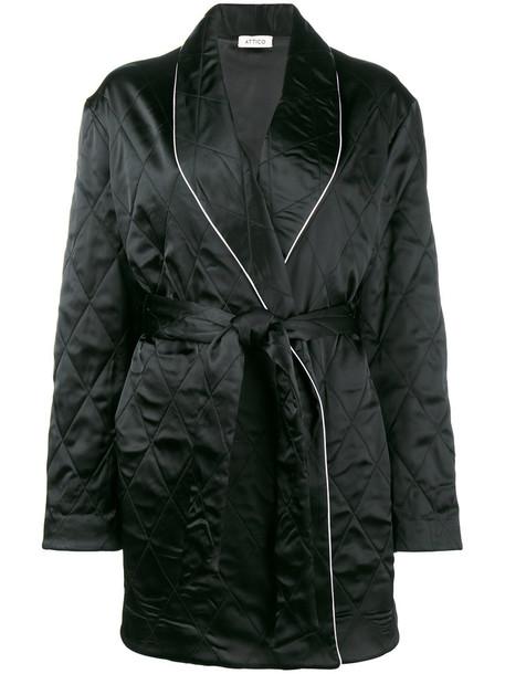Attico jacket oversized embroidered women spandex black
