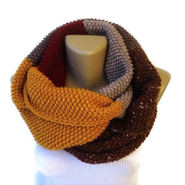 scarf infinity scarf eternity scarf best gifts knitted